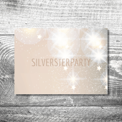 Silvesterparty Sterne | 2-Seitig