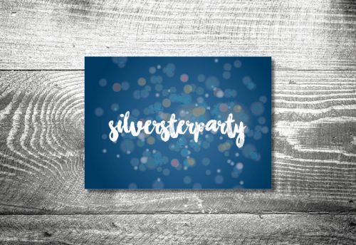 Silvesterparty Glitter | 4-Seitig
