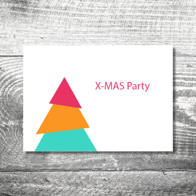 Party X-Mas modern | 2-Seitig