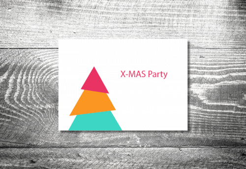 Party X-Mas modern | 4-Seitig