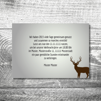 Weihnachtsfeier Waldlandschaft | 2-Seitig
