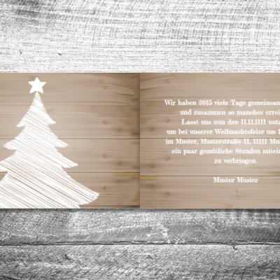 Weihnachtsfeier Holz | 4-Seitig