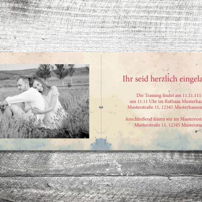 Hochzeit Hirsch | 4-Seitig