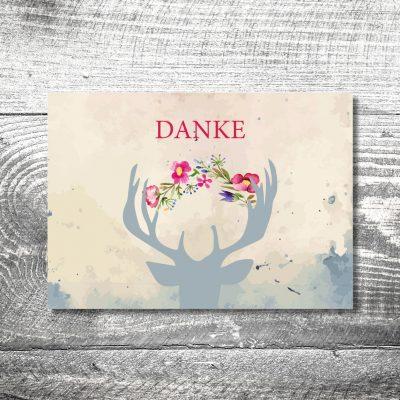 Danke Hirsch | 4-Seitig | ab 1,00 €