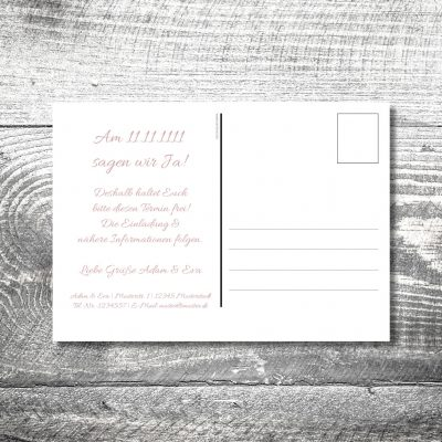Save the Date Herzschwung Postkarte | 2-Seitig | ab 0,70 €