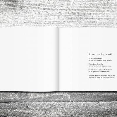 Gästebuch Holz Rustikal