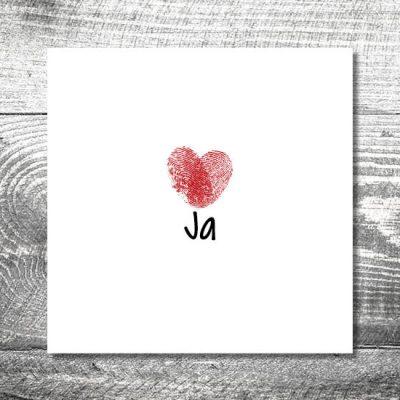 Hochzeit Fingerabdruck | 6-Seitig | ab 1,90 €