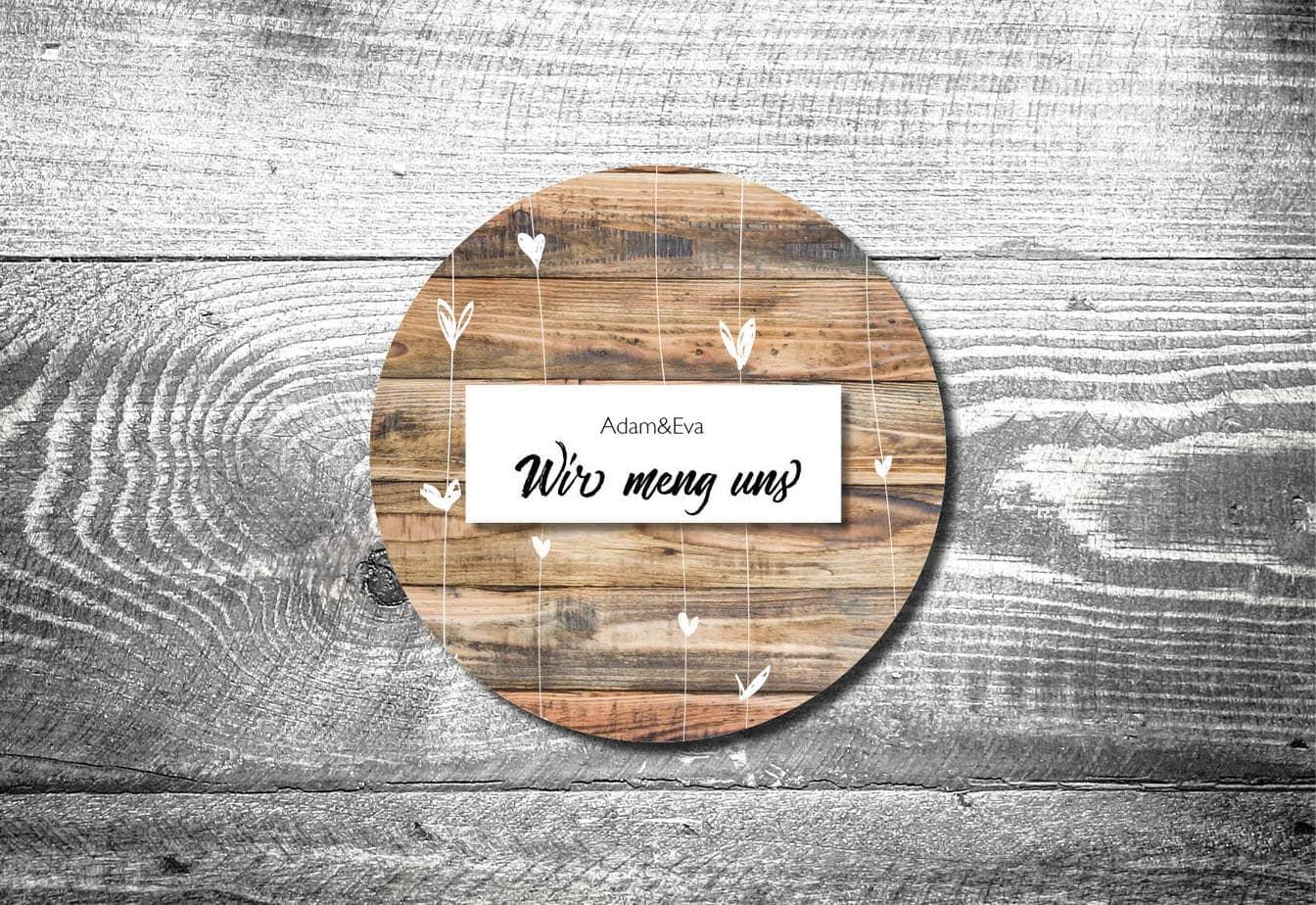 bierdeckel hochzeit herzchenholz | kartlerei, Einladung