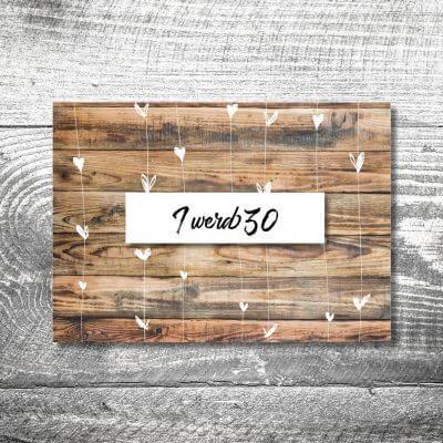Herzchenholz | 2-Seitig | ab 0,70 €