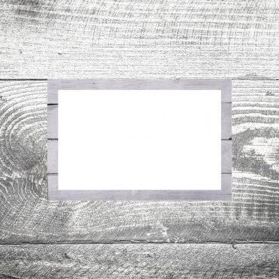 Tischkarte Holz weiß