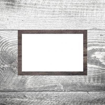 Tischkarte Holz dunkel