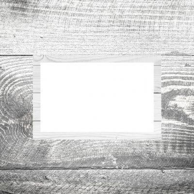 Tischkarte Holz hell