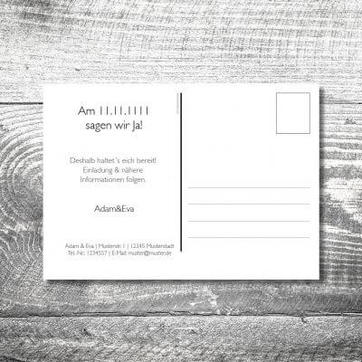 Save the Date Vintage Postkarte | 2-Seitig | ab 0,70 €