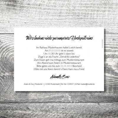 Hochzeit Herzchenholz | 2-Seitig