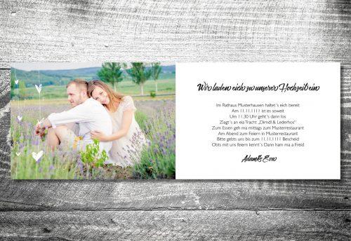 Hochzeit Herzchenholz | 4-Seitig | ab 1,00 €