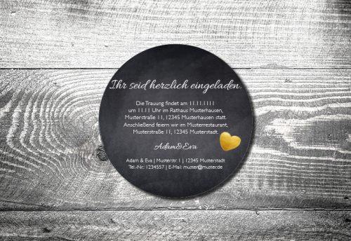 Bierdeckel Hochzeit Herzgold