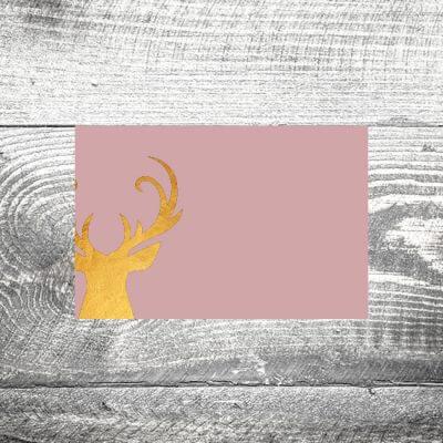 Tischkarte Goldener Hirsch