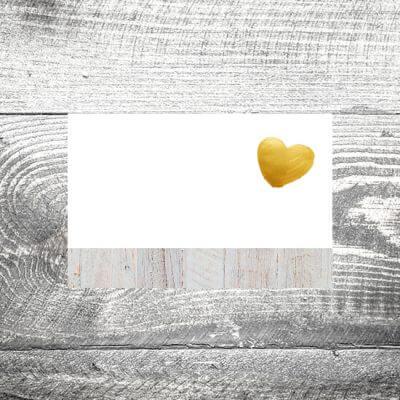 Tischkarte Herzgold