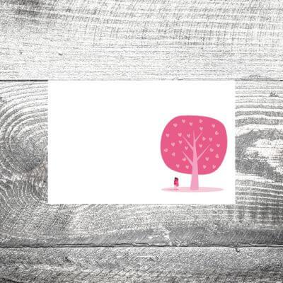Tischkarte Herzchenbaum