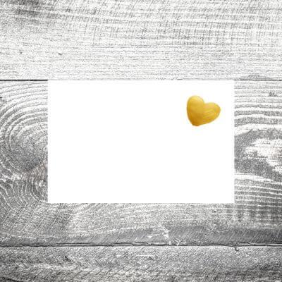 Tischkarte Goldenes Herz