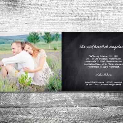 Hochzeit Herzgold | 4-Seitig