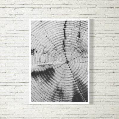 kartlerei poster bild drucken bayrisch spruch baumstamm 400x400 - Poster und Bilder