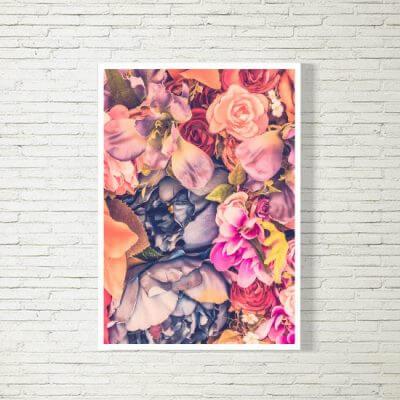 kartlerei poster bild drucken bayrisch spruch blumen 400x400 - Poster und Bilder