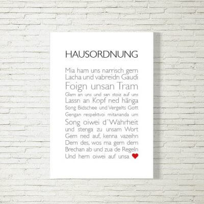 Poster/Bild | Hausordnung