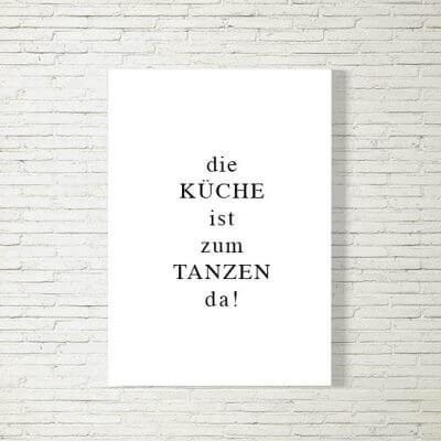 kartlerei poster bild drucken bayrisch spruch kueche tanzen 400x400 - Poster und Bilder