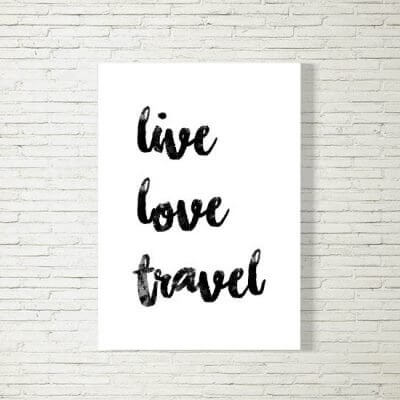 Poster/Bild | live love travel
