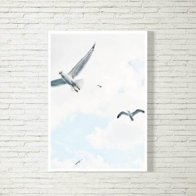 kartlerei poster bild drucken bayrisch spruch moewen 400x400 - Poster und Bilder