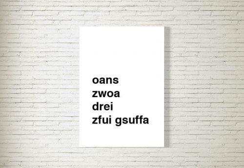 Poster/Bild | Zfui Gsuffa