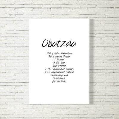 Poster/Bild | Obatzda