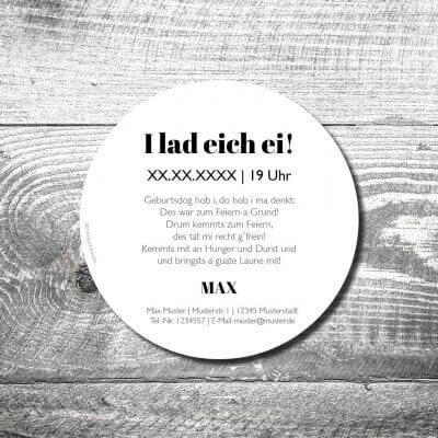 Bierdeckel Hirschwappen Holz