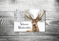 kartlerei karten drucken gestalten bayrische weihnachtskarten frecher hirsch - Weihnachtskarten auf bayrisch