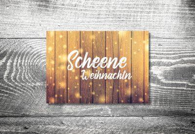 kartlerei karten drucken gestalten bayrische weihnachtskarten glitzerholz 400x275 - Weihnachtskarten auf bayrisch