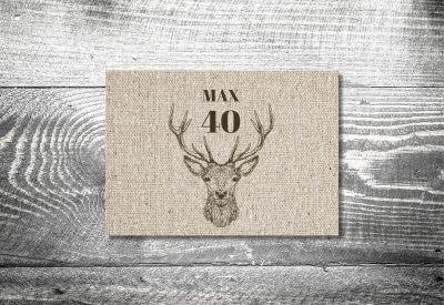 kartlerei karten drucken heimatgefuehl bayern einladungskarten bayrisch hirsch leinen 400x275 - Einladungskarten Geburtstag Text