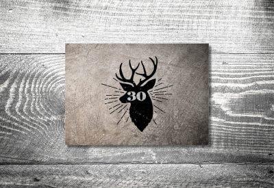 kartlerei karten drucken heimatgefuehl bayern einladungskarten bayrisch hirsch retro 400x275 - Einladungskarten Geburtstag Text
