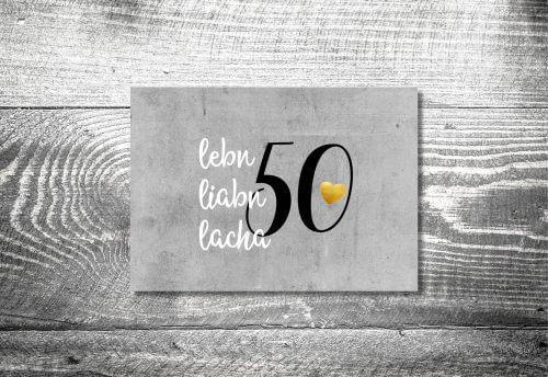 Lebn, liabn, lacha | 4-Seitig | ab 1,00 €