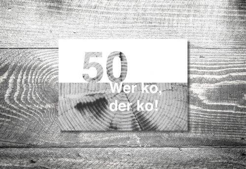 Wer ko, der ko | 2-Seitig | ab 0,70 €