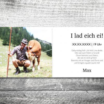 kartlerei karten drucken heimatgefuehl bayern einladungskarten bayrisch zefix 3 400x400 - Geburtstagseinladung auf Bayrisch
