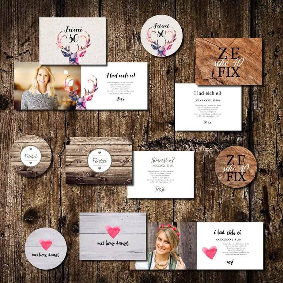 geburtstagskarten kartlerei einladungskarten bayrisch bierdeckel drucken - Heimatgefühl