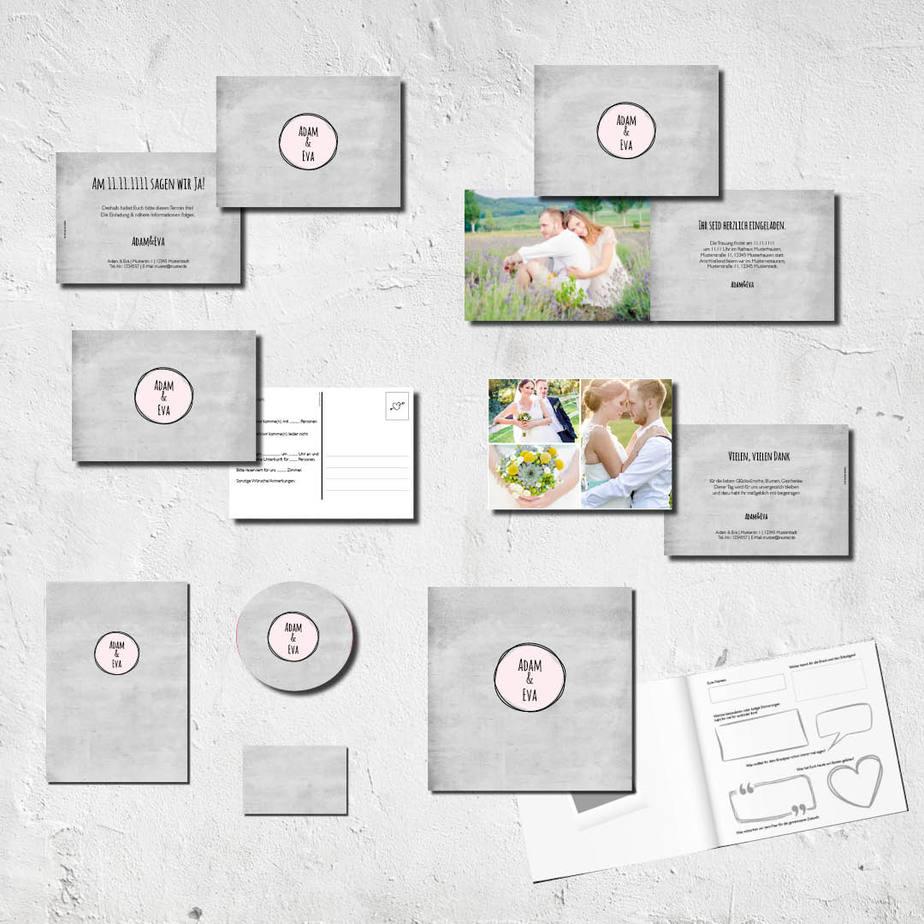 hochzeits set kartlerei karten drucken bierdeckel menuekarten gaestebuch dankeskarten hochzeit - kartlerei Magazin