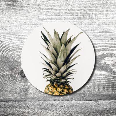 Bierdeckel Ananas