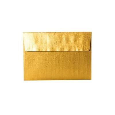 Umschläge DIN C6 114 x 164 mm – Gold mit Haftstreifen