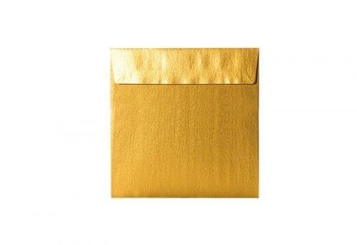 Umschläge Quadratisch 155 x 155 mm – Gold mit Haftstreifen