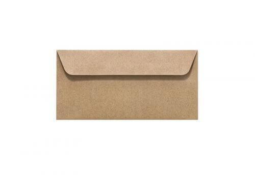 Umschläge DIN lang 110 x 220 mm – Recyclingpapier mit Haftstreifen