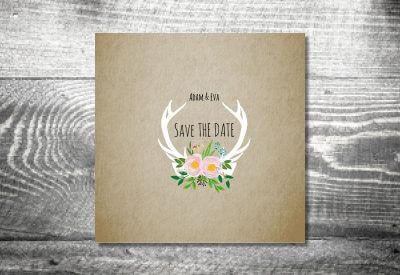kartlerei karten drucken hochzeit einladung flowerhirsch 400x275 - Timeline Hochzeit