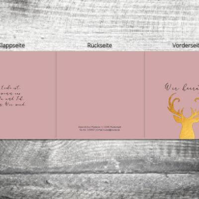Hochzeit Goldener Hirsch | 6-Seitig