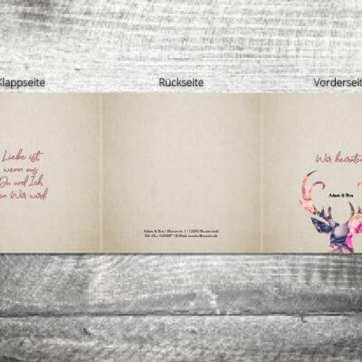 Hochzeit Floralhirsch | 6-Seitig
